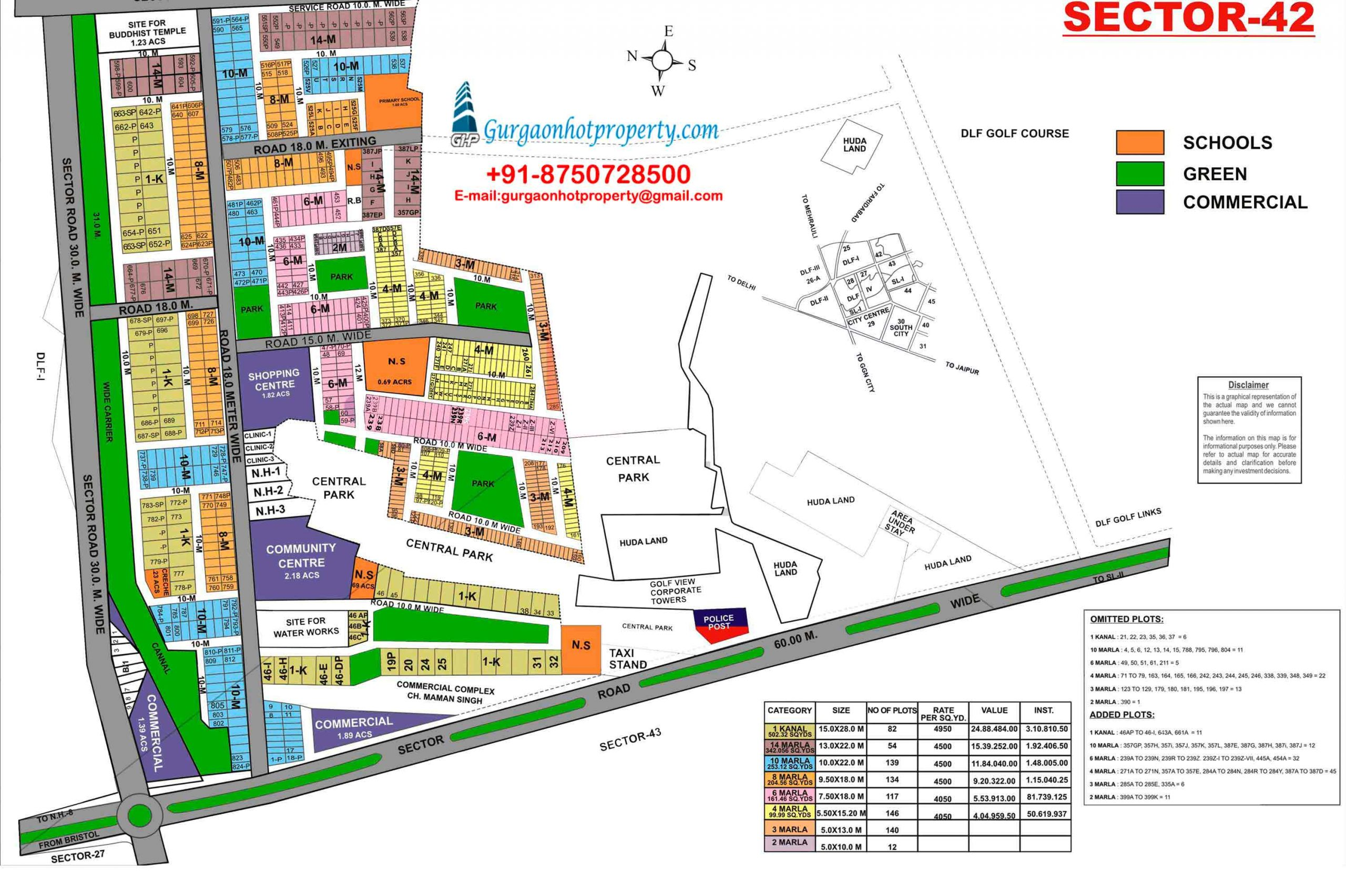 204 YDS Residential Plot in Sector- 42 Gurgaon